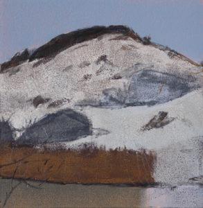 Pilgrim Lake Winter 2016 monotype 7x7W